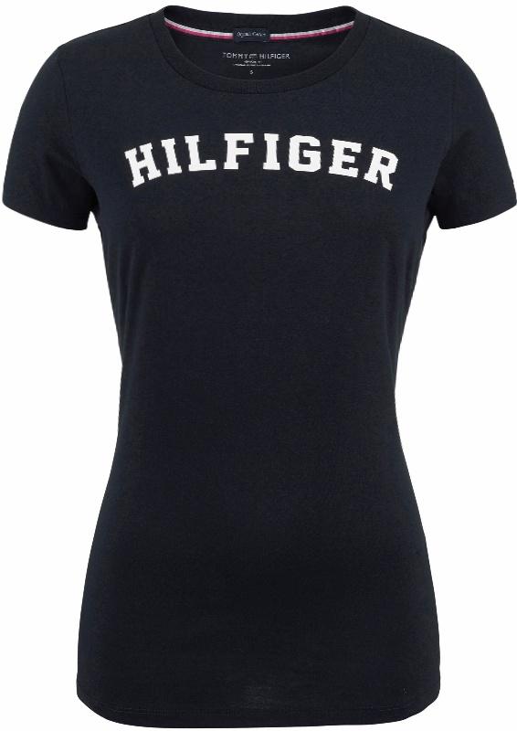 Tommy Hilfiger dámske tričko Cotton Icon SS Tee Print Logo modré