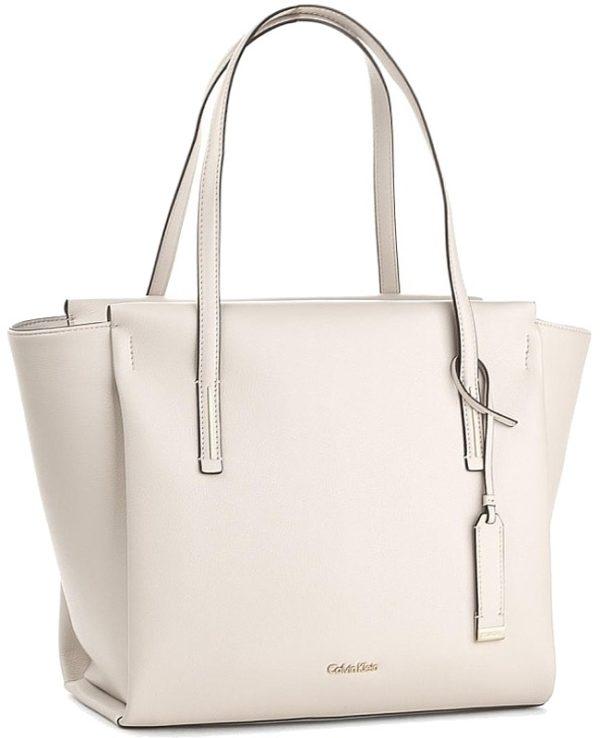 Calvin Klein dámska kabelka Frame Large Shopper krémová