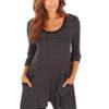 Dámske pyžamo domáce oblečenie Vivance Dreams Pyjama Black Dots