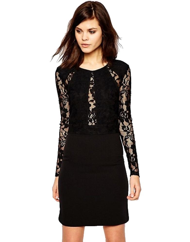 Y.A.S Lava šaty dámske Dress čierne