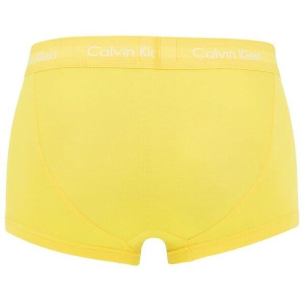 Boxerky Calvin Klein 5 Pack Low Rise Trunk žlté detail foto