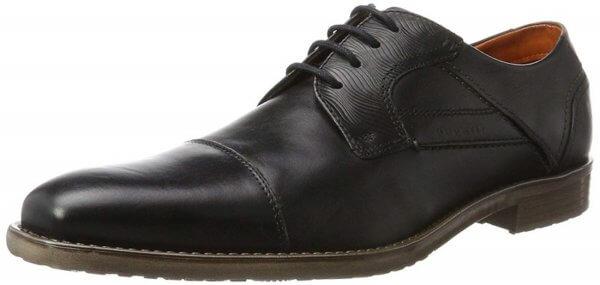 Pánske šnurovacie topánky Bugatti čierne