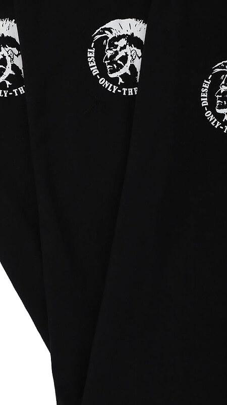 Pánske tričká Diesel 3 Pack čierne detail foto