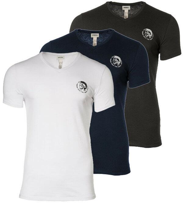 Tričká Diesel Umtee Michael 3 Pack T-Shirt 02 tricolor