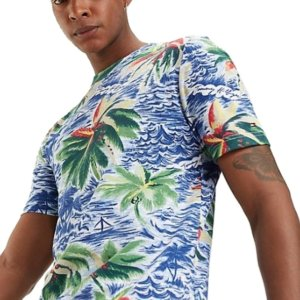 Pánske tričko Tommy Hilfiger Palm All Over Print Tee 118