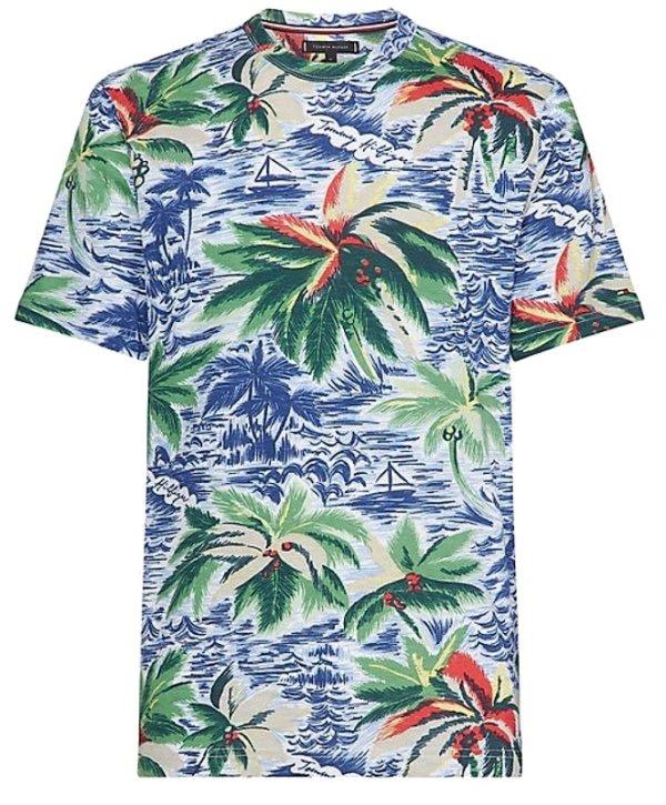 Tričko Tommy Hilfiger Palm All Over Print Tee 118.04