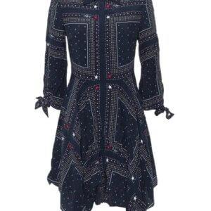 Šaty Tommy Hilfiger Asymmetric Printed Shirt Dress