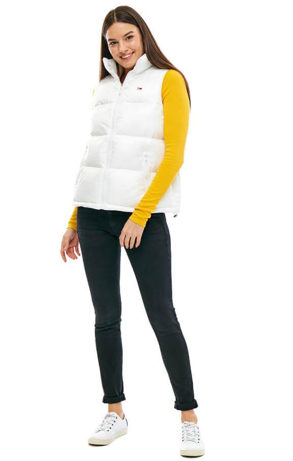 Dámska vesta Tommy Hilfiger Jeans biela 2