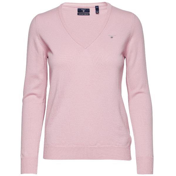 Damsky pulover Gant Superfine Lambswool Pink