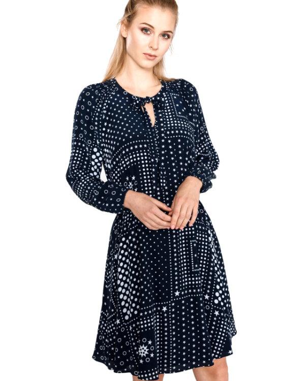 Hodvábne šaty Tommy Hilfiger Honor modré 4