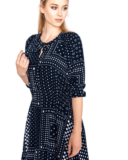 Hodvábne šaty Tommy Hilfiger Honor modré 5