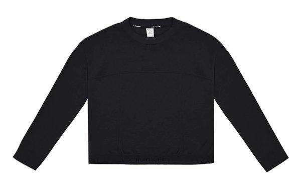 Mikina Calvin Klein Tonal Logo LS Sweatshirt čierna 01