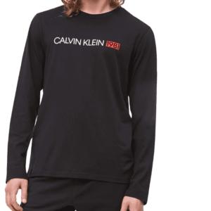 Tričko Calvin Klein LS Crew Neck 1981 čierne