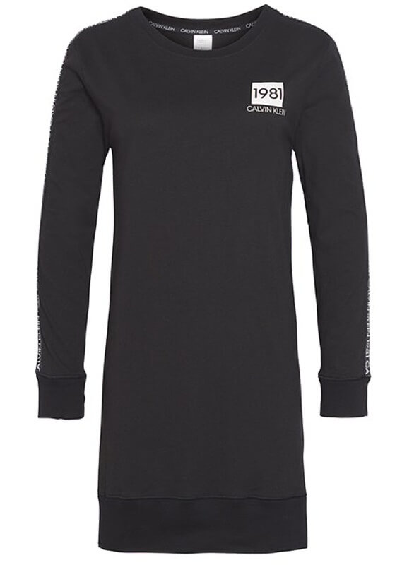 Tričko Calvin Klein Night Shirt 1981 Bold čierne QS6313E