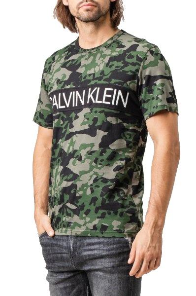 Tričko Calvin Klein SS Animal Camouflage 1PO khaki 03