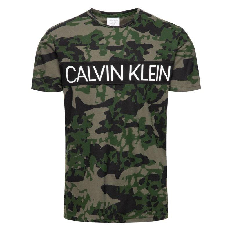 Tričko Calvin Klein SS Animal Camouflage 1PO khaki