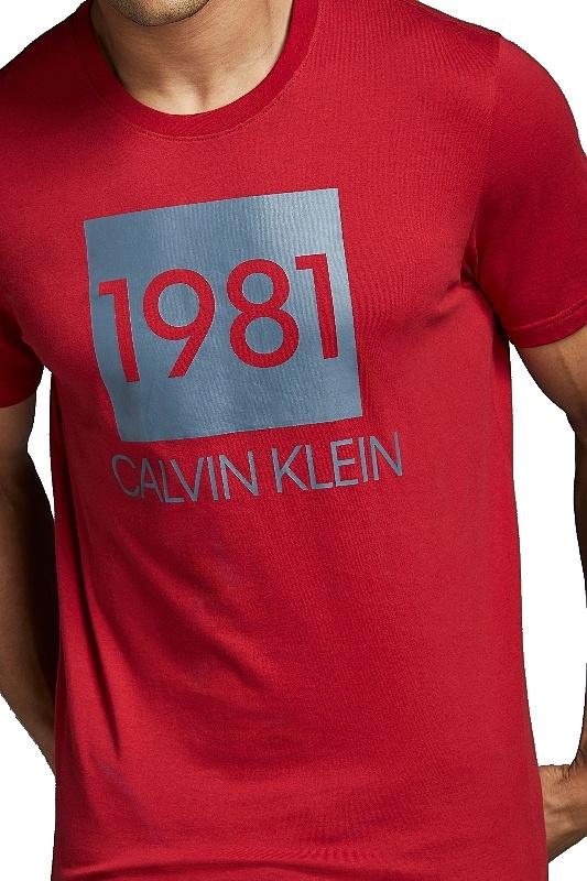 Tričko Calvin Klein SS Crew Neck 1981 červené 003