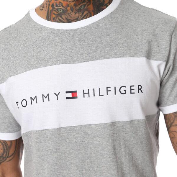 Tommy Hilfiger tričko pánske Original CN Tee SS Logo Flag 004 šedé_01