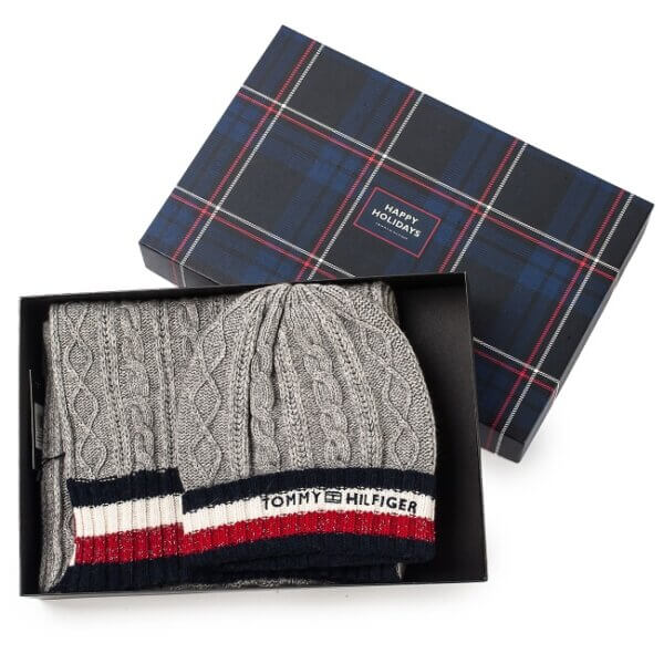 Set čiapka a šál Tommy Hilfiger Corp. Giftpack