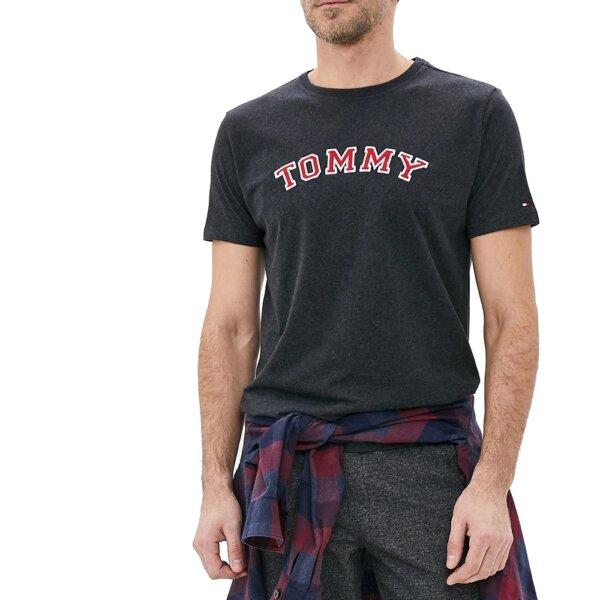 Tommy Hilfiger tričko pánske CN SS Tee Logo UM0UM01623 091 šedé