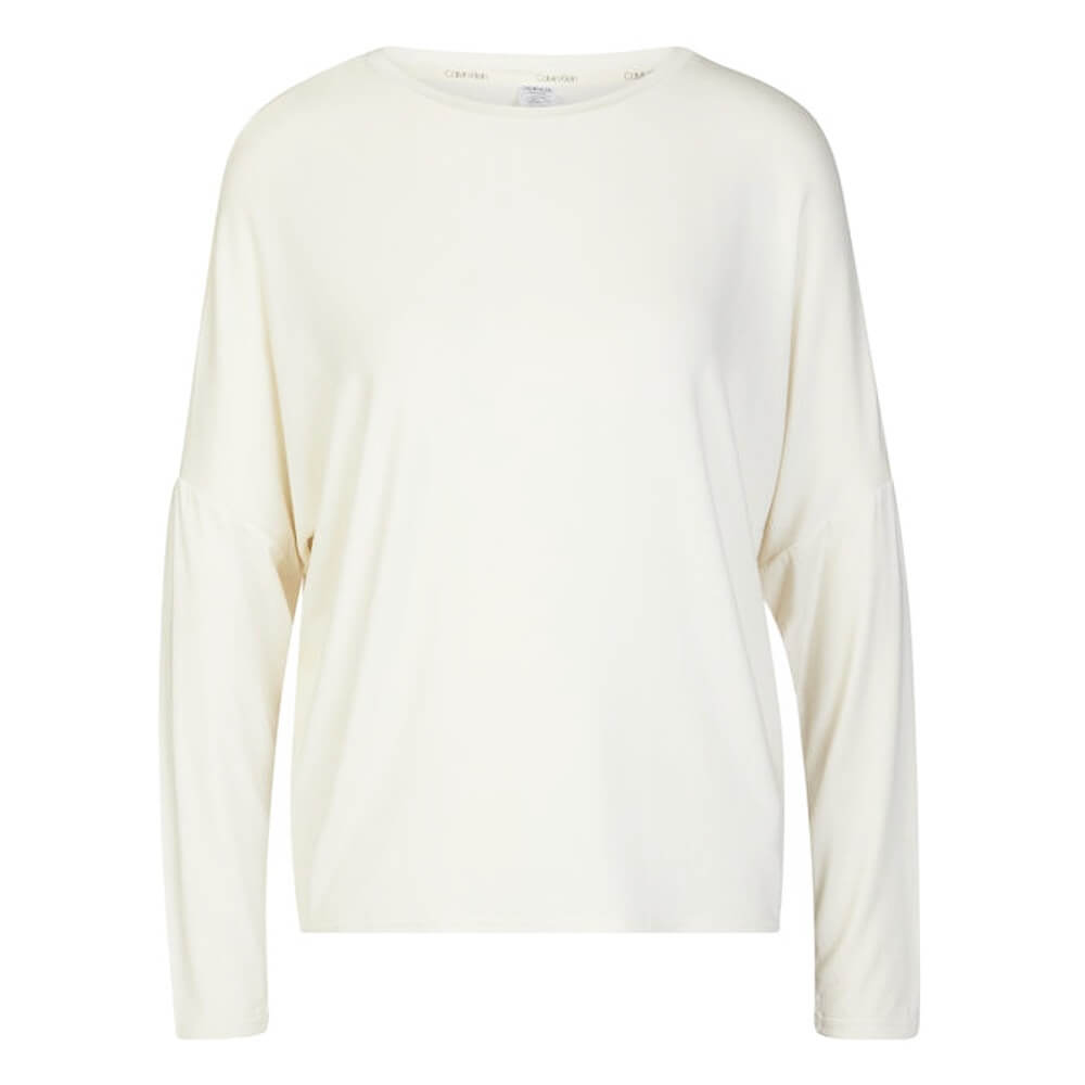 Calvin Klein tričko LS Curve Neck Top 101