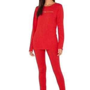 Tommy Hilfiger pyžamo Set LS red-gold