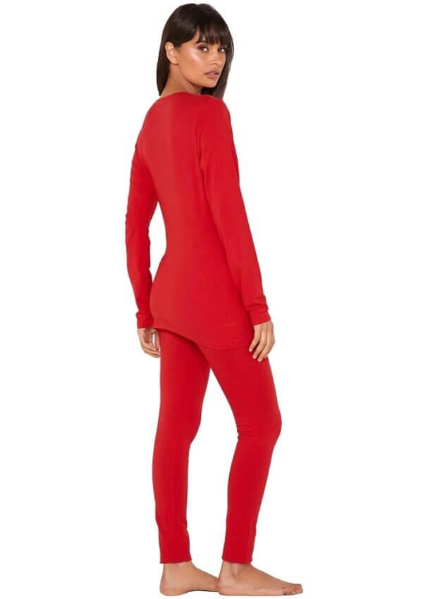 Tommy Hilfiger pyžamo dámske Set LS red-gold 2