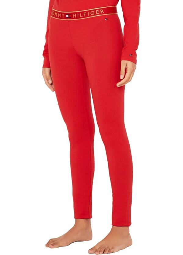 Tommy Hilfiger pyžamo Set LS red-gold 4
