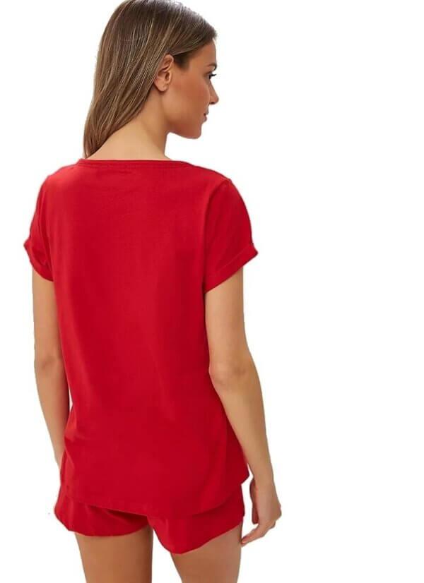 Dámske tričko Tommy Hilfiger CN Tee SS Tango Red_03