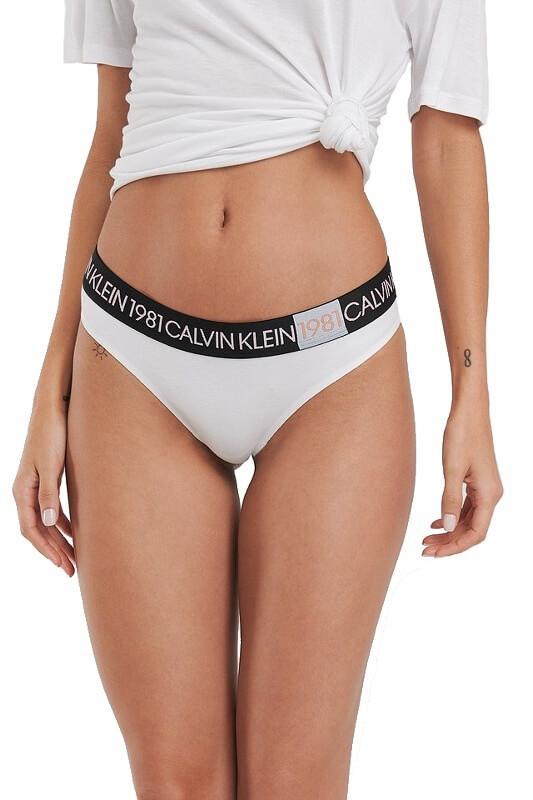 Calvin Klein tangá QF5448E 100 biele 01
