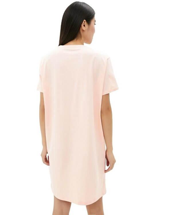 Tommy Hilfiger šaty RN Dress Half Sleeve pudrové TDS_back