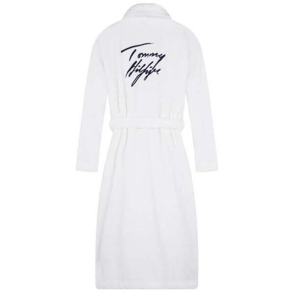 Tommy Hilfiger župan dámsky Toweling Robe Signature YCD biely 01a