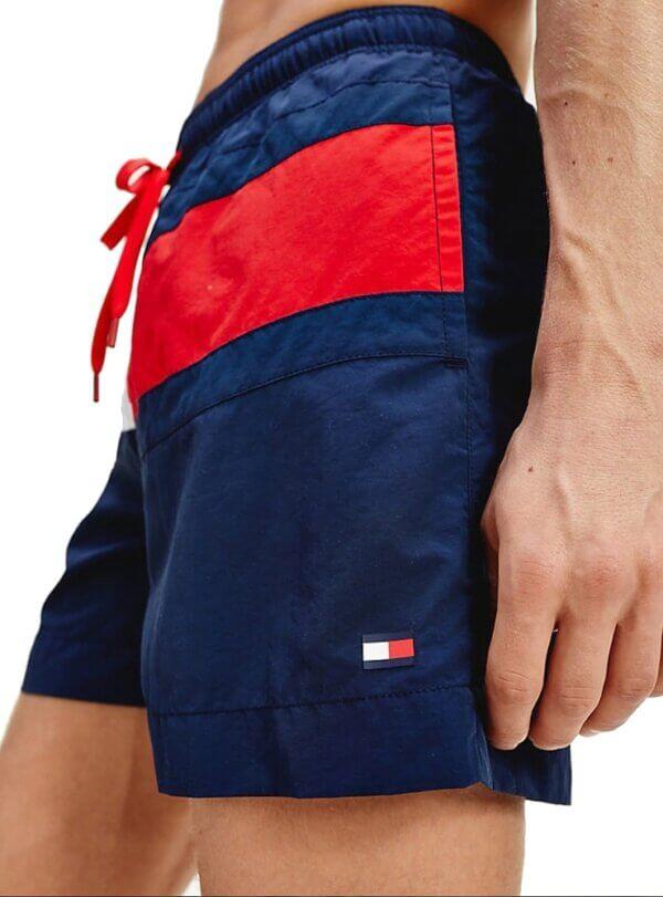 Tommy Hilfiger plavky Flag Panel Swim Shorts CUN modré_02a