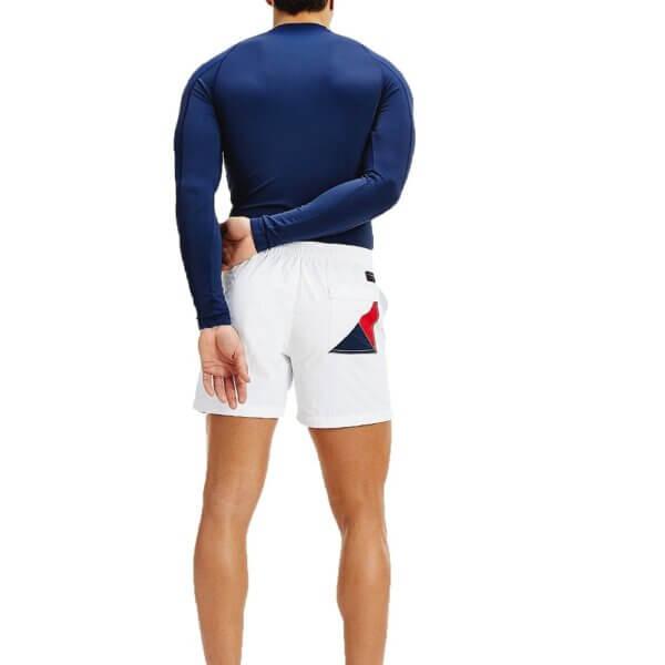 Tommy Hilfiger plavky pánske šortky kúpacie Logo Leg Swim Shorts YCD biele_02