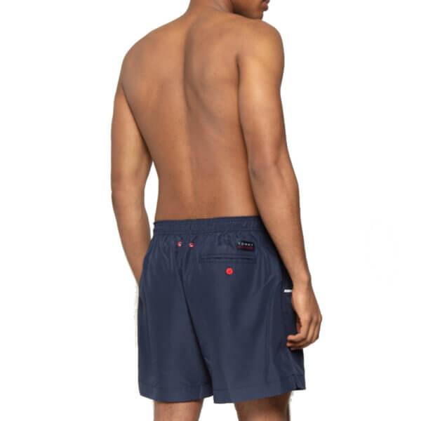 Tommy Hilfiger plavky pánske šortky kúpacie Logo Swim Shorts CUN tmavé modré_01