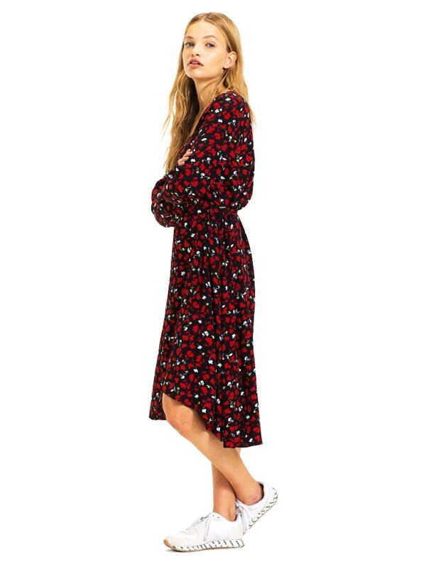 Tommy Hilfiger šaty TJW Floral Printed Wrap Dress_01