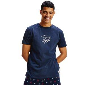 Tommy Hilfiger tričko pánske CN SS Tee Logo CHS modré