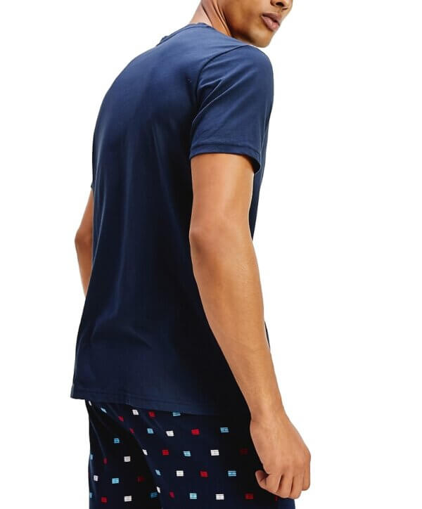 Tommy Hilfiger tričko pánske CN SS Tee Logo CHS modré_03