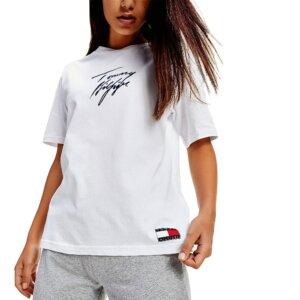 Tommy Hilfiger tričko dámske CN SS Tee Logo biele YCD