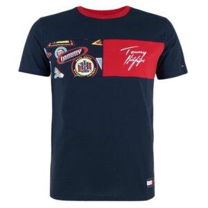Tommy Hilfiger tričko pánske CN SS Tee Print CHS modré
