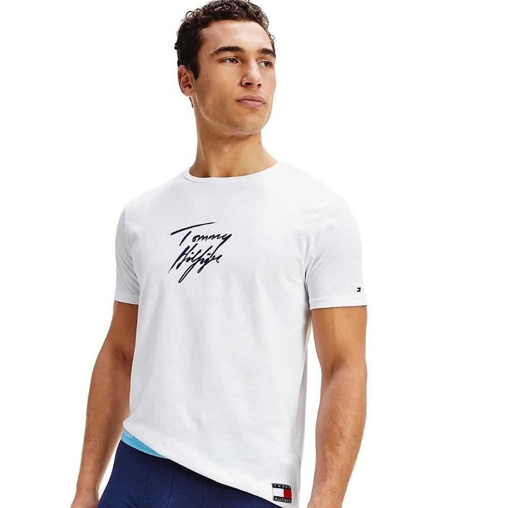 Tommy Hilfiger tričko pánske CN SS Tee Logo YCD biele