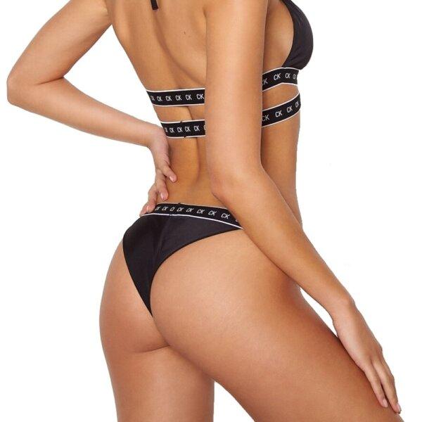 Calvin Klein plavky dámske Brazilian Core Mono Tape BEH čierne_01a