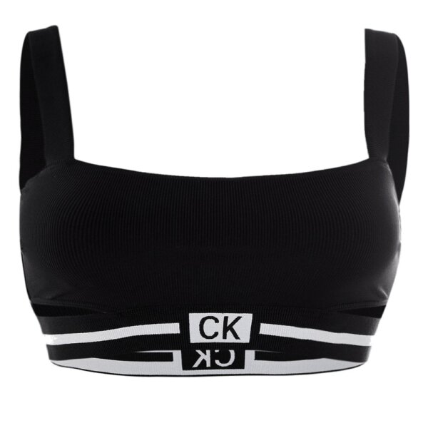 Calvin Klein plavky dámske Fixed Strap Bandeau RP Core Reset BEH čierne