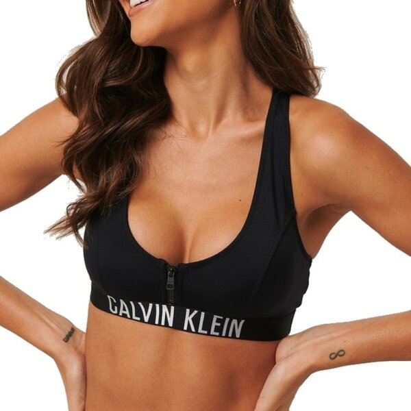 Calvin Klein plavky dámske Zip Bralette RP BEH čierne_01a