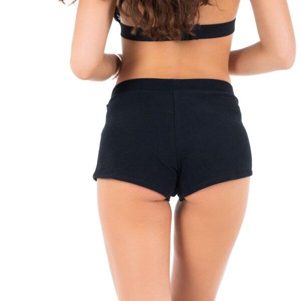 Calvin Klein šortky dámske Short CK Logo čierne BEH_01