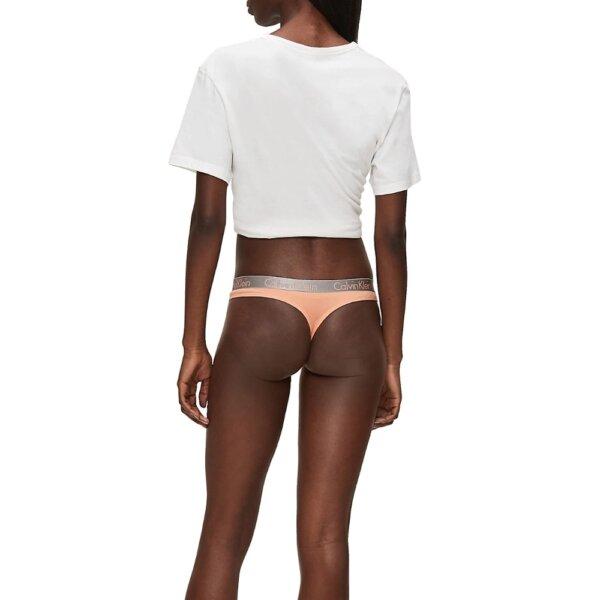 Calvin Klein tangá dámske Radiant Cotton Thong 9GQ koralové_04