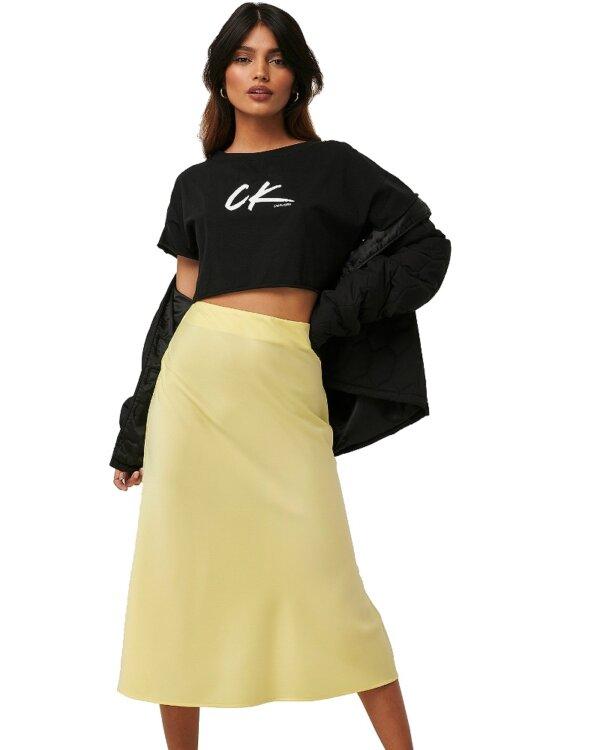 Calvin Klein tričko dámske Cropped Tee čierne_01a
