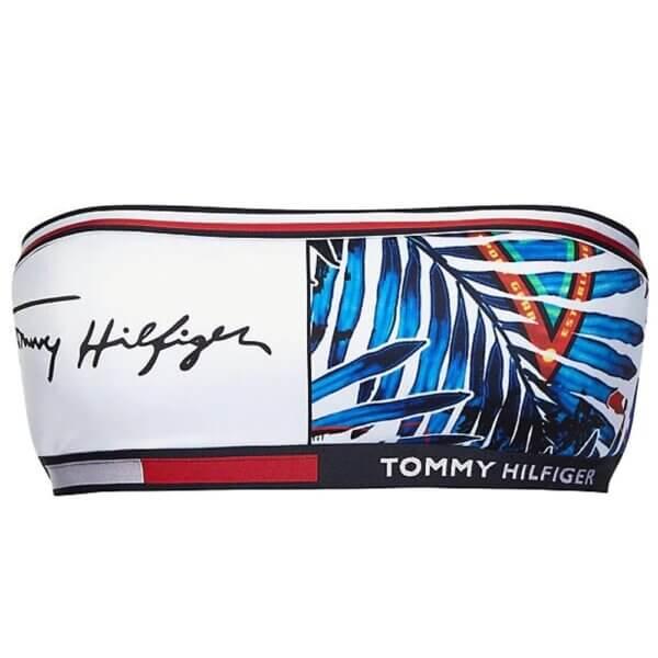 Tommy Hilfiger plavky dámske-podprsenka Multi Logo Bandeau Fixed 0K5_04