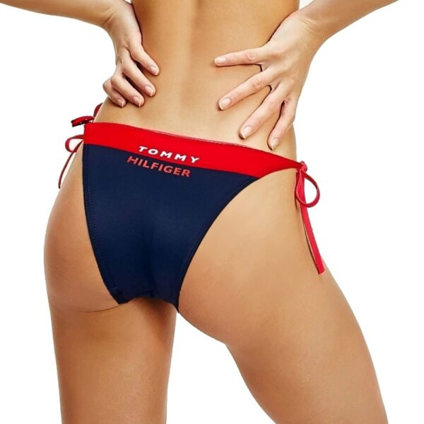 Tommy Hilfiger plavky dámske Cheeky String Bikini XL7 červené_01a