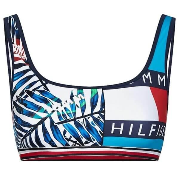 Tommy Hilfiger plavky-podprsenka-bralettka Contrast Print Bralette 0K5_05